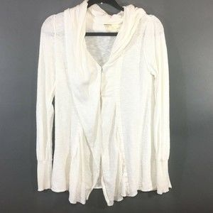 Free People Size Small White Sweater Cardigan